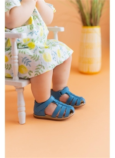 First Step Hakiki Deri Çocuk Sandalet -D-464 Renkli